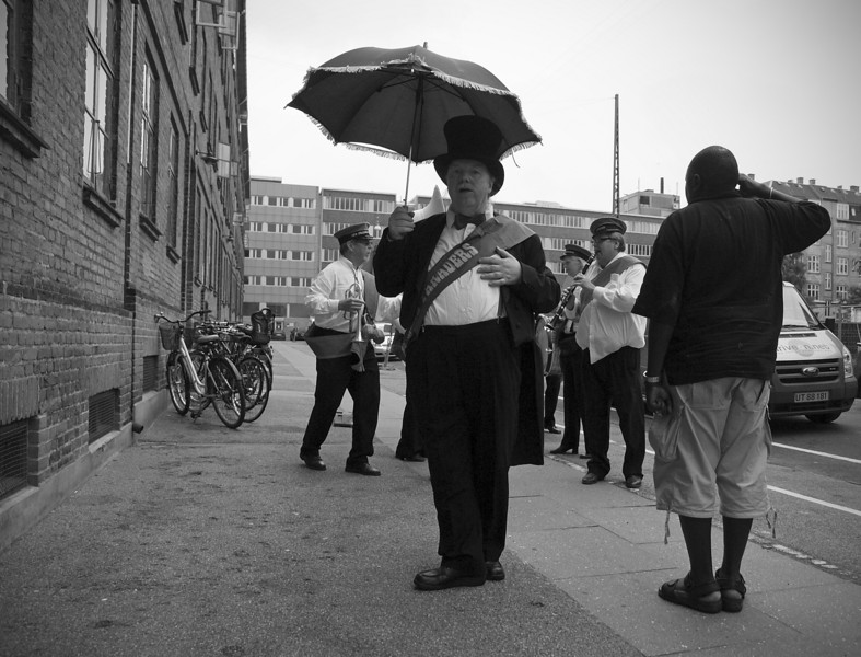 Dismissing the Band.<br /> New Orleans Paraders.