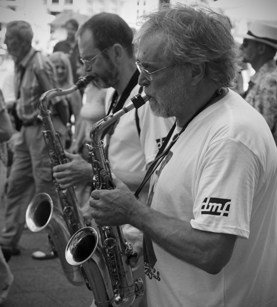 Sync Sax.<br /> Street parade with Orion Brass Band.