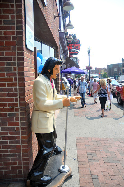 Elvis' presence is felt on the streets