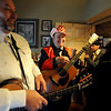"""Jim Deeming, left, and Jimmy Martin, joke around backstage on Saturday.<br /> Bertolin Barn, north of Longmont, is one of the only venues to see country music in Boulder County.<br /> For a video of the music and more photos, go to  <a href=""""http://www.dailycamera.com"""">http://www.dailycamera.com</a><br /> Cliff Grassmick/ April 30, 2011"""