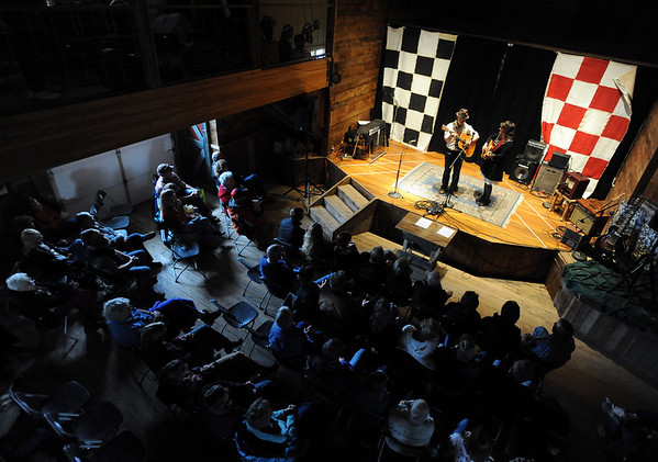 """David Richey and K.C. Groves perform Saturday at the barn.<br /> Bertolin Barn, north of Longmont, is one of the only venues to see country music in Boulder County.<br /> For a video of the music and more photos, go to  <a href=""""http://www.dailycamera.com"""">http://www.dailycamera.com</a><br /> Cliff Grassmick/ April 30, 2011"""