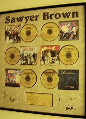 Sawyer Brown w/6 Gold Records