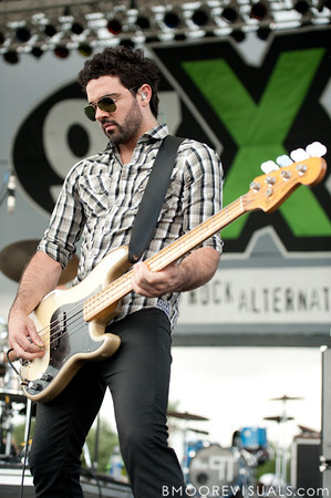 Mike Beliveau of Crash Kings performs on May 29, 2010 at 97X Backyard BBQ at Vinoy Park in St. Petersburg, Florida