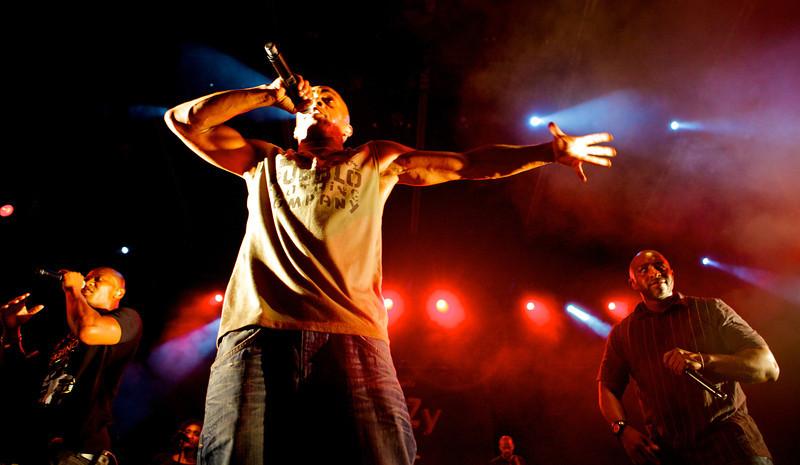 Le groupe I AM en concert à Nice au Théâtre de Verdure lors du festival Crazy Week 2010<br /> <br /> Shurik'N, Khephren