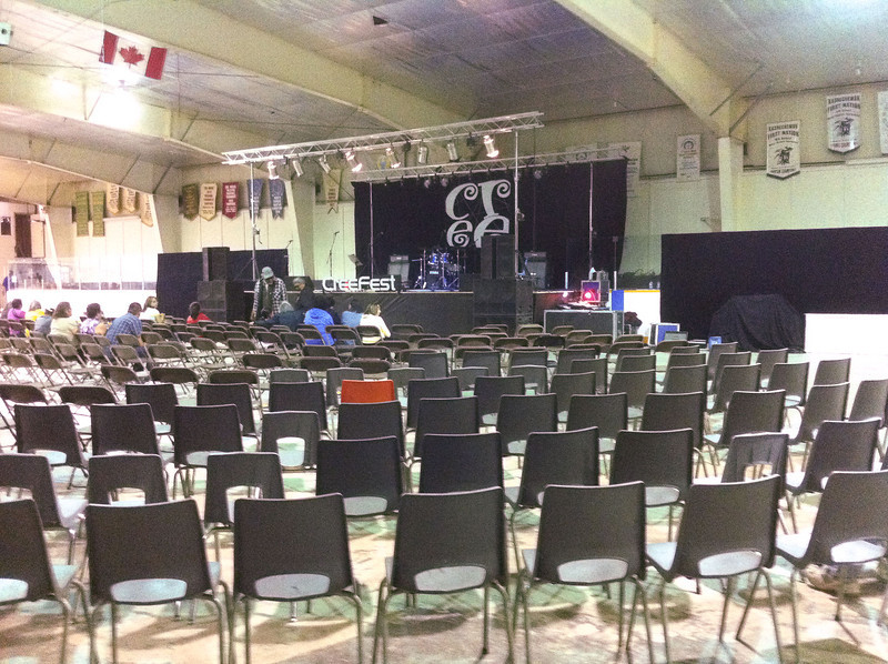 Creefest inside Moosone Arena.