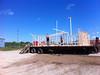 Building stage at Creefest in Moosonee.