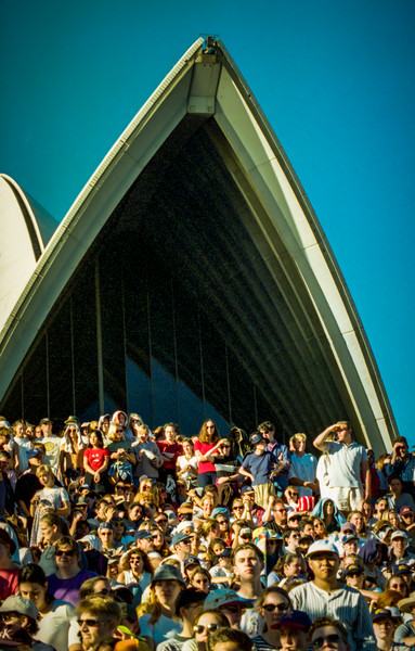 Crowded House 'Farewell to the World'  Performance, Sydney Opera House Steps