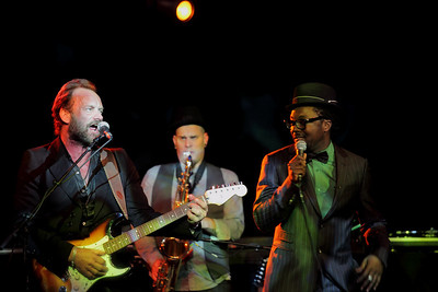 Sting and Will I Am of the Black Eyed Peas - Huffington Inaugural Ball