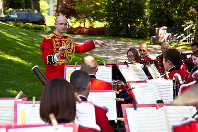 US Marine Band (President's Own) play on the White House South Lawn