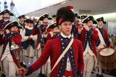 Fife and Drums of York Town play at the Smithsonian Museum of American History