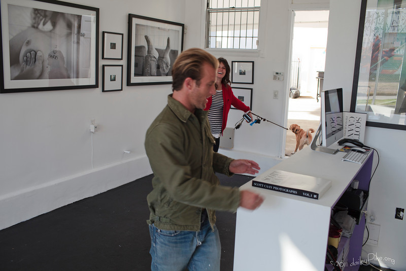 Scott Caan pre-show photo exhibit