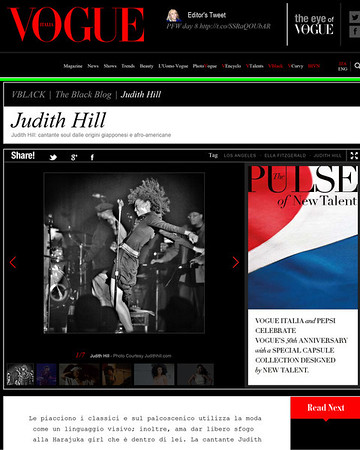 JUDITH HILL - VOGUE ITALY
