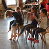 The kids pulled their chairs up to the front to listen.