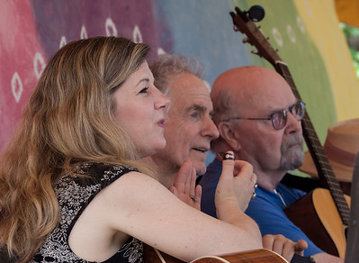 Dar Williams, David Amram and Tom Paxton on the main stage at the 2014 Clearwater Festival.