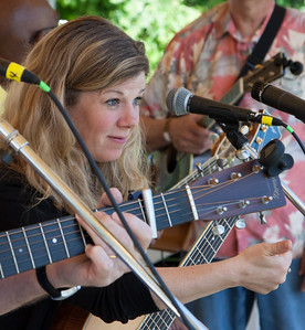 Dar Williams at sound check, Clearwater Festival 2014.