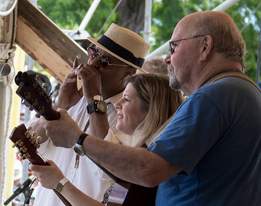 Guy Davis, Dar Williams and Tom Paxton on the main stage at the 2014 Clearwater Festival.