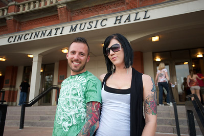 Chad and Amanda from West Chester at Cincinnati Music Hall for Daughtry