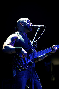 Bassist Brian Smith for CAVO as they open for Daughtry at the Bank of Kentucky Center on Friday