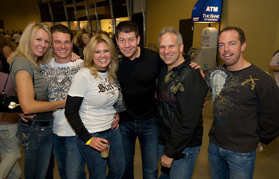 Michelle, Andrew, Judi, Franc, Marty ad Tim of Cincinnati Friday night for Daughtry at the Bank of Kentucky Center