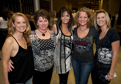 Terri, Kim, Lisa, Kelly and Beth of Cincinnati Friday night for Daughtry at the Bank of Kentucky Center