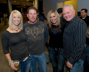 Maria, Jim, Vickey and Kevin of Cincinnati Friday night for Daughtry at the Bank of Kentucky Center