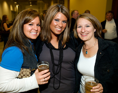 Gina Gambetta, Jamie Boyle and Melissa Black of Cincinnati Friday night for Daughtry at the Bank of Kentucky Center