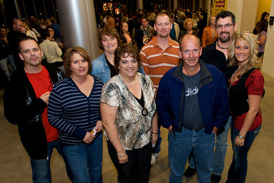 Gary, Buni, Michelle, Cris, Bob, Jim, Tim and Tara of Southeast IN Friday night for Daughtry at the Bank of Kentucky Center