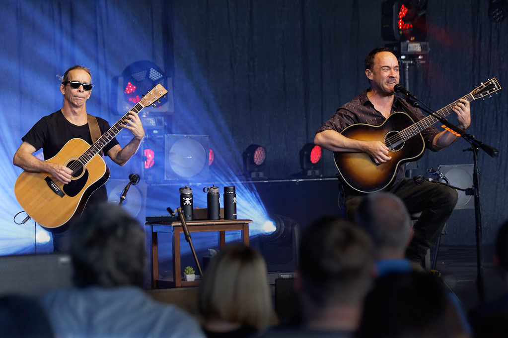 . Dave Matthews and Tim Reynolds  live at DTE Music Theatre on 6-13-2017. Photo credit: Ken Settle