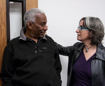 Reggie Harris and Sandy O.