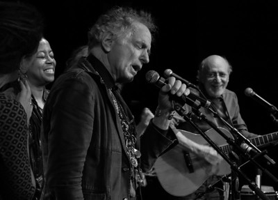 Kim Harris, David Amram and Peter Yarrow.