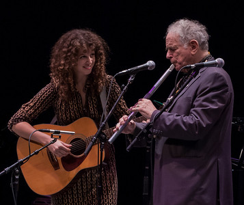 Alana Amram with her Father David Amram at Symphony Space, NYC in October 2011,