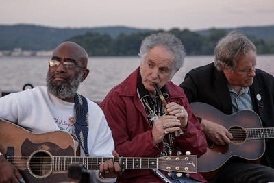 Josh White Jr., David Amram and Tom Chapin on the Mystic Whaler, June 2013.
