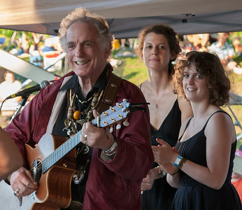 David Amram performing with his daughters Alana Amram and Adira Amram for their set at the Gererations Set on the Rainbow Stage.  This was the 2011 Clearwater Hudson River Sloop Festival in Croton, NY.