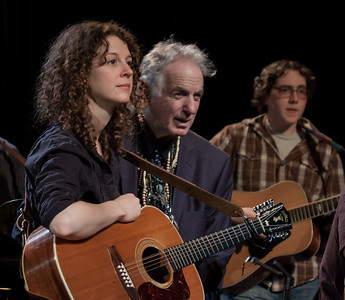 Alana Amram, David Amram and Matt Ehmer at Terrytown, NY's Music Hall in 2011.