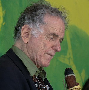 David Amram in a pensive moment on the Hudson Stage at the Clearwater Festival, June 2008.