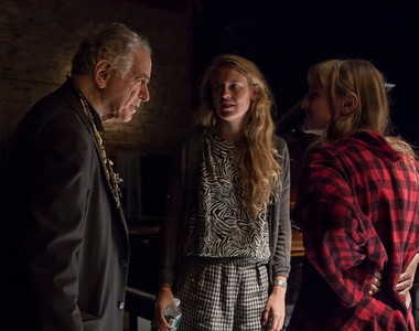 David Amram, Abigail and Lily Chapin (Chapin Sisters) backstage at Symphony Stage, NYC in October 2011.