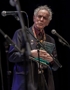 David Amram receiving the Hudson River Sloop Clearwater Power of Song Award at Symphony Space, NYC in November 2012.