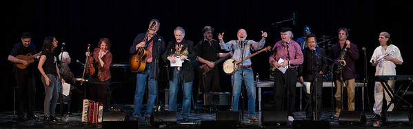 Finale of the Clearwater 2012 Earth Day Concert at Tarrytown, NY's Music Hall. Lorin Sklamberg, Lucy Kaplanski, Janis Ian, Lisa Gutkin, Tom Chapin, David Amram, Pete Seeger, Tom Paxton, Garlan Jeffreys and the Klezmatics.