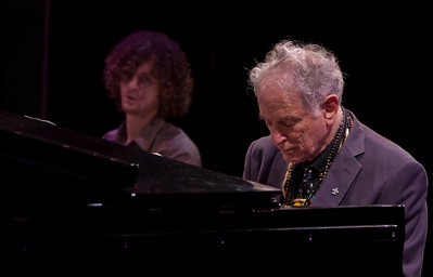 Adam Amram and his father David Amram at Symphony Space, NYC in October 2011.