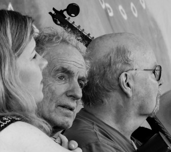 Dar Williams, David Amram and Tom Paxton, on the main Stage at the 2014 Clearwater Festival.