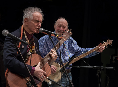 David Amram and Pete Seeger at Symphony Space, NYC in November 2012.