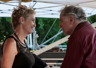 Eliza Gilkyson and David Amram.  2011 Clearwater Festival.