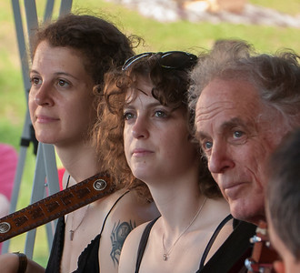 Alana Amram, Adira Amram and David Amram on the Rainbow Stage for the Generations Set at the 2011 Hudson River Sloop Clearwater Festival in Croton, NY.