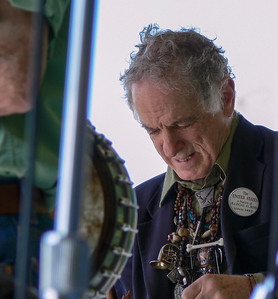 David Amram performing on the Hudson Stage at the 2008 Clearwater Festival in Croton, NY.  That's Pete Seeger's elbow and banjo on the left side of the shot.
