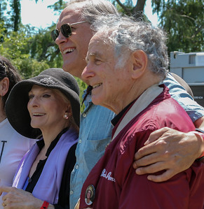 Judy Collins, Tom Chapin and David Amram at the 2013 Clearwater Festival.