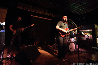 Andy Fitts and David Bazan perform on November 30, 2011 at Crowbar in Tampa, Florida