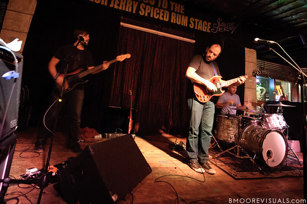 Andy Fitts, David Bazan, and Alex Westcoat perform on November 30, 2011 at Crowbar in Tampa, Florida