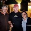 Jon Langford with hosts David & Mirabai
