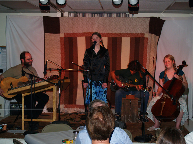 Glass Roses (Cliff, Emily & Rob F.) plus Trudy at Perkasie Patchwork Coffeehouse