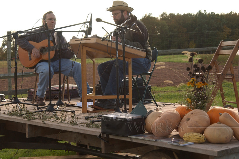 Cliff and ?? at Blooming Glen CSA Farm Harvest Festival